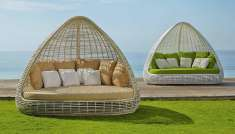 Chill-Out Lounge-Sofa aus Rattan : Modell SHADE