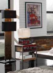 Moderne LED-Stehlampe : Modell RAILWOOD