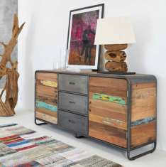 Sideboard aus Recycling-Holz : Modell RETRO