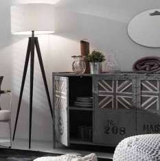 sideboard ebeoh im industriellen stil dekoration beltr n ihr webshop f r dekorative anrichten. Black Bedroom Furniture Sets. Home Design Ideas