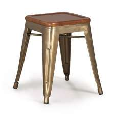 Hocker im Industrial Style : Modell BRUSHED BRONZE