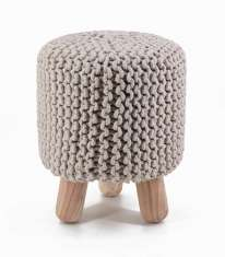 Hocker im Häkel-Look : Modell CROCHET Naturell