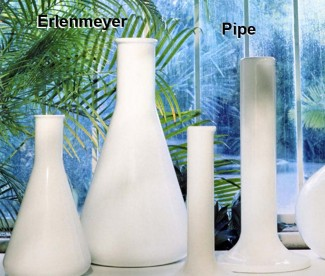 Design-Blumentopf : Kollektion CHEMIS ERLENMEYER-PIPE