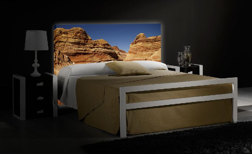 led hinterleuchtetes kopfteil the wave dekoration beltr n ihr online shop f r innovative. Black Bedroom Furniture Sets. Home Design Ideas