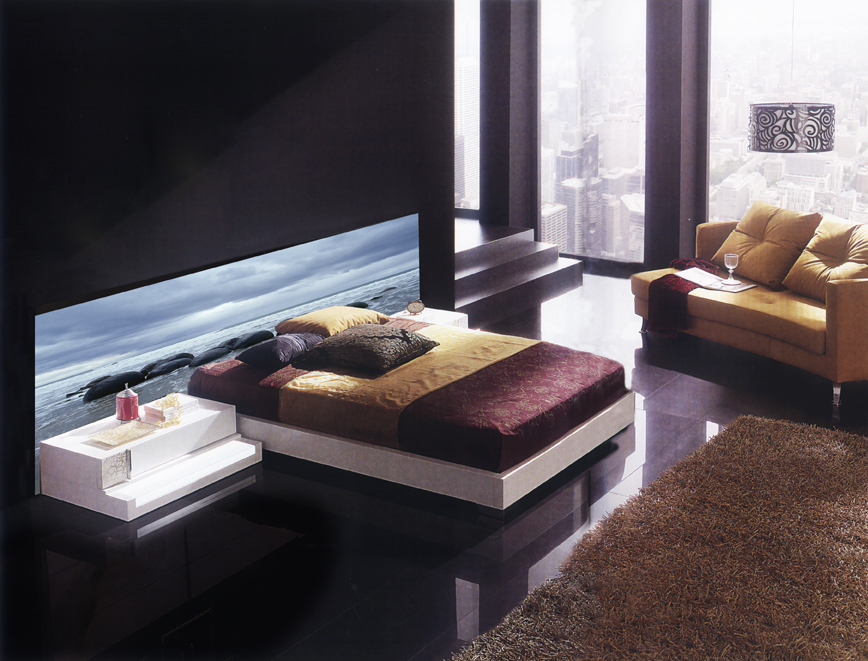 led hinterleuchtetes kopfteil galapagos dekoration. Black Bedroom Furniture Sets. Home Design Ideas
