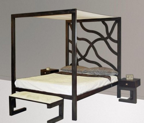 modernes himmelbett kenia aus metall dekoration beltr n. Black Bedroom Furniture Sets. Home Design Ideas